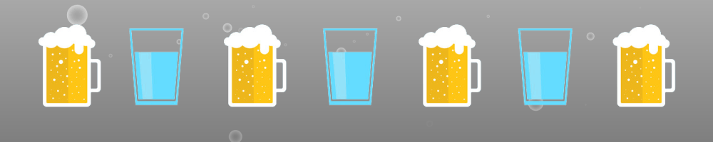 Drink a cup of water in between every alcoholic drink.